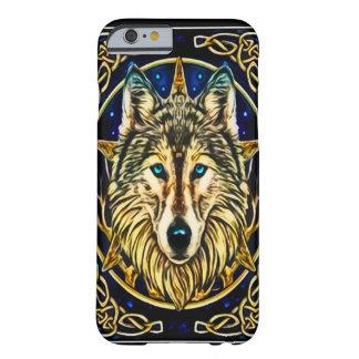 Arte Nouveau del alcohol del lobo Funda De iPhone 6 Barely There