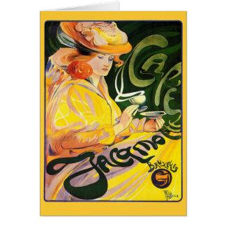 Arte Nouveau del ~ de Jacqmotte del café Tarjeton