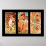 Arte Nouveau del panel de Alfons Mucha del arte Póster