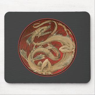 Arte Nouveau del saber del dragón Alfombrilla De Ratones