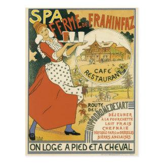 Arte Nouveau del vintage, café de la barra de la Postal