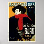 Arte Nouveau del vintage de Enrique de Toulouse Poster
