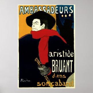 Arte Nouveau del vintage de Enrique de Toulouse Póster