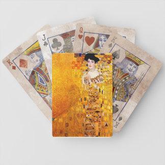 Arte Nouveau del vintage de Gustavo Klimt Adela Baraja De Cartas Bicycle