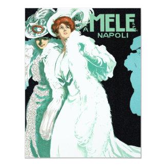Arte Nouveau del vintage, mujeres de lujo y moda Invitacion Personal