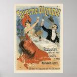 Arte Nouveau del vintage; Taverne Olympia, fiesta  Impresiones