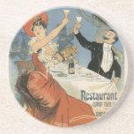 Arte Nouveau del vintage; Taverne Olympia, fiesta  Posavasos Personalizados