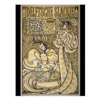 Arte Nouveau Delftsche Slaolie Delft Postal