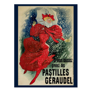 Arte Nouveau invierno del vintage de la nieve del Tarjetas Postales