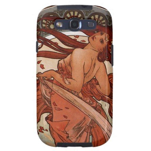 Arte Nouveau la caja de la galaxia de Samsung de l Samsung Galaxy S3 Protectores