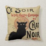 Arte Nouveau, Le Chat Noir del vintage Almohadas