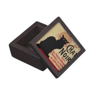 Arte Nouveau, Le Chat Noir del vintage Caja De Regalo De Calidad