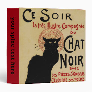 Arte Nouveau, Le Chat Noir del vintage Carpeta 3,8 Cm