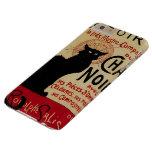 Arte Nouveau, Le Chat Noir del vintage Funda De iPhone 6 Plus Barely There