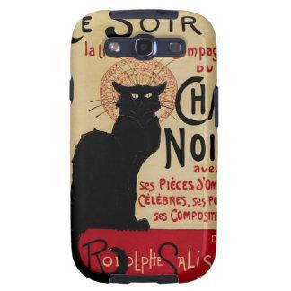 Arte Nouveau, Le Chat Noir del vintage Samsung Galaxy S3 Funda