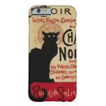 Arte Nouveau, Le Chat Noir del vintage Funda De iPhone 6 Barely There