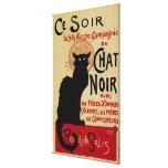 Arte Nouveau, Le Chat Noir del vintage Lienzo Envuelto Para Galerías