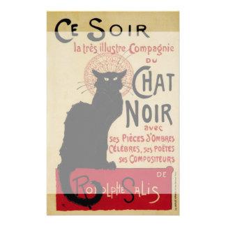 Arte Nouveau, Le Chat Noir del vintage Papelería De Diseño