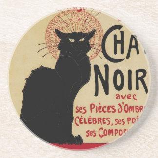 Arte Nouveau, Le Chat Noir del vintage Posavaso Para Bebida