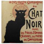Arte Nouveau, Le Chat Noir del vintage Servilletas De Papel