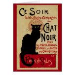 Arte Nouveau, Le Chat Noir del vintage Tarjeta De Felicitación