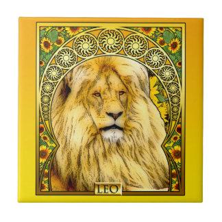Arte Nouveau Leo Azulejo Cuadrado Pequeño