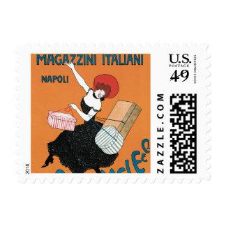 Arte Nouveau, moda italiana del vintage de las Timbres Postales