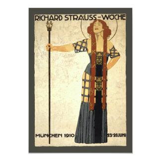Arte Nouveau, mujer del vintage del Victorian Invitación 12,7 X 17,8 Cm