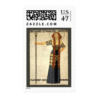 Arte Nouveau, mujer del vintage del Victorian Sello Postal