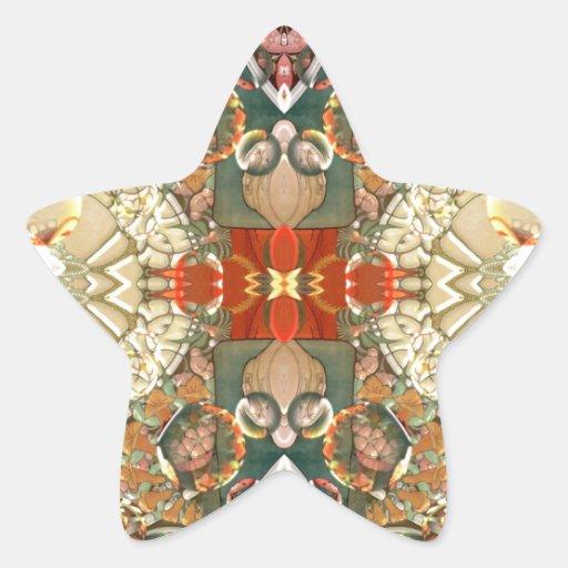 Arte Nouveau Pegatina En Forma De Estrella