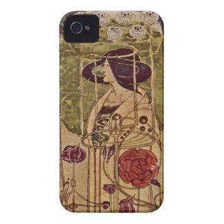 Arte Nouveau - por Charles Renn - 2B iPhone 4 Case-Mate Cárcasa