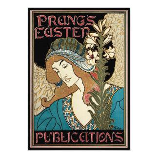 """Arte Nouveau, publicaciones del vintage de Prangs Invitación 5"""" X 7"""""""