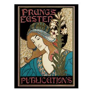 Arte Nouveau, publicaciones del vintage de Prangs Postales