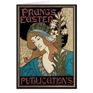 Arte Nouveau, publicaciones del vintage de Prangs Tarjeta De Felicitación