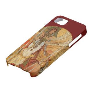 Arte Nouveau - Salammbô - Alfonso Maria Mucha iPhone 5 Case-Mate Cárcasa