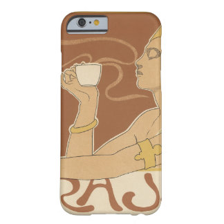 Arte Nouveau, señora Drinking Tea Cafe Rajah del Funda De iPhone 6 Barely There