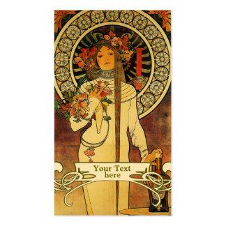 Arte Nouveau - tarjetas de Mucha de visita del art Plantillas De Tarjeta De Negocio