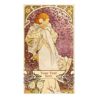Arte Nouveau - tarjetas de Mucha de visita del art Tarjetas De Visita