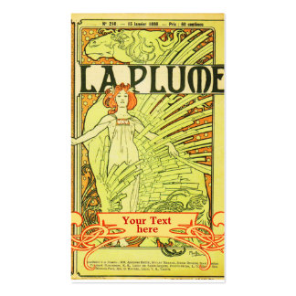 Arte Nouveau - tarjetas de Mucha de visita del art Tarjeta De Visita