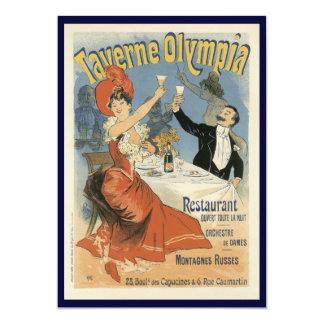 Arte Nouveau, Taverne Olympia, fiesta del vintage Invitación 12,7 X 17,8 Cm