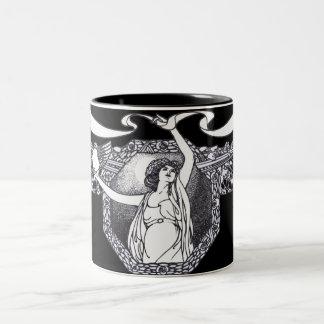 Arte Nouveau Taza De Dos Tonos