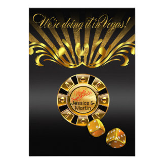Arte Nouveau Vegas que casa negro del oro del Invitación