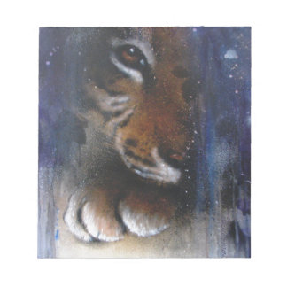 Arte ocultado del animal del tigre bloc de notas