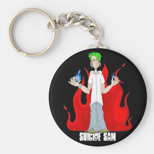 Arte oficial de Sam Merch del suicidio por la just Llavero Redondo Tipo Pin