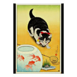 Arte-Ohara japonés Koson 11 del Poster-Vintage