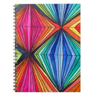 Arte óptico geométrico del arco iris note book