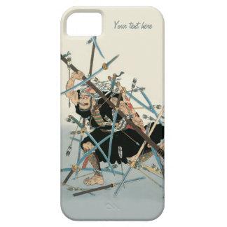 Arte oriental 3 del guerrero del samurai iPhone 5 funda