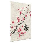 Arte oriental de la flor de cerezo de Sakura del