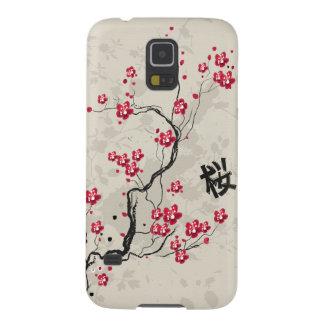 Arte oriental de la flor de cerezo de Sakura del Carcasa De Galaxy S5