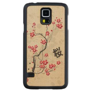 Arte oriental de la flor de cerezo de Sakura del Funda De Galaxy S5 Slim Arce